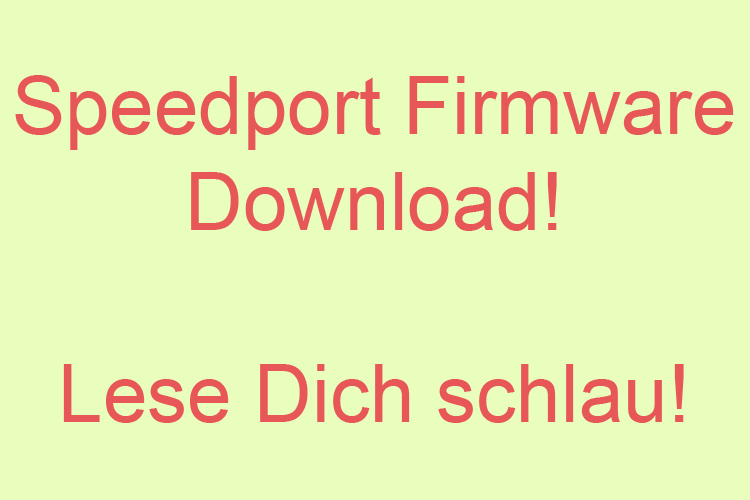 Speedport Firmware Download