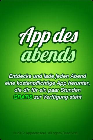 App des Abends nun im Appstore - Kostenlose Apps jeden Abend.