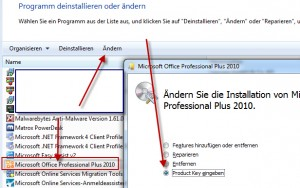 Lizenzkey ändern Office 2010 und auch Office 2013 ganz leicht gemacht.