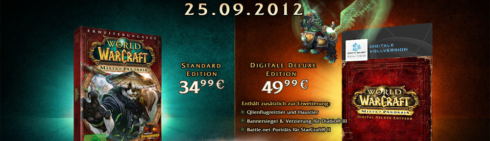 World of Warcraft AddOn: Mists of Pandaria Release am 25.09.2012 – Inkl. Fakten und Infos