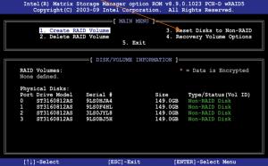 """Punkt """"3. Reset Disks to Non-RAID"""" auswählen."""