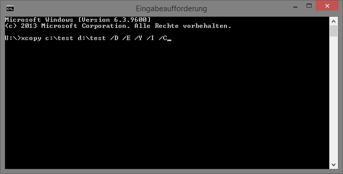 Batch Datensicherung Befehle xcopy!