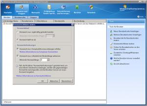 Windows Small Business Server 2011 Kennwortrichtlinen ändern