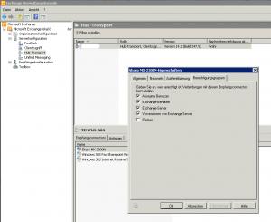 Einrichten eines Exchange Empfangsconnectors für Scan to E-Mail