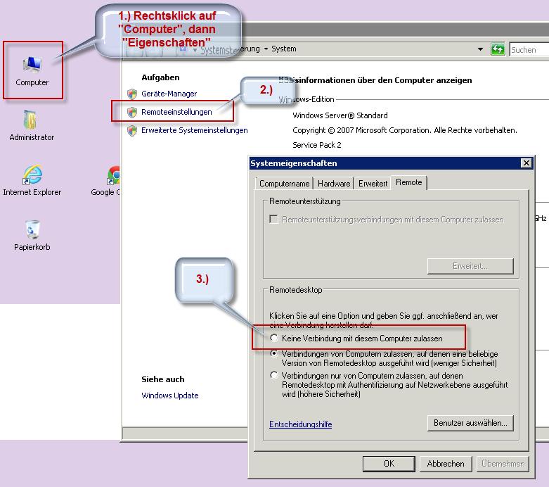 Sperren von Anmeldungen auf dem Terminalserver