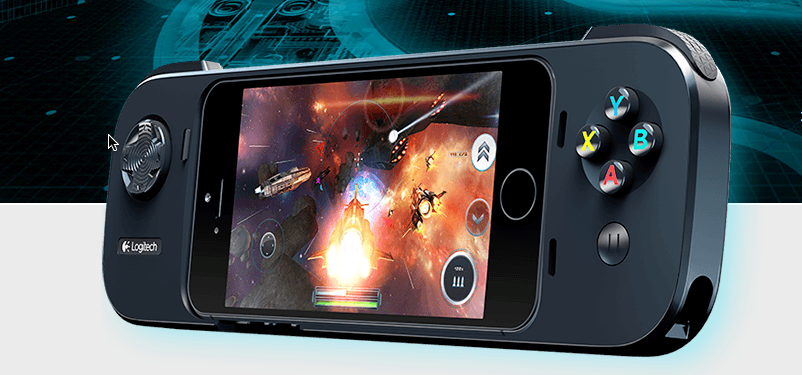 Logitech GameController für iPhone – Logitech PowerShell iOS 7, Gamepad für iPhone + Akkuladung des Smartphones