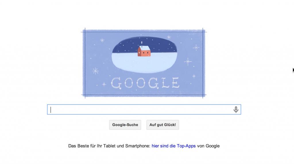 Das Google Doodle zum 2. Weihnachtsfeiertag am 26.12.2013