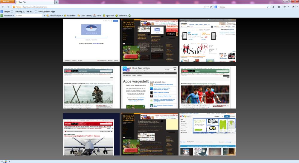 Fast Dial Add-On: Firefox Startseite Favoriten Webseiten einstellen, Firefox Start individualisieren