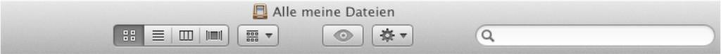 Die normale Pfadangabe des Finders im OS X. Man hat keine Ahnung, wo genau man eigentlich ist.