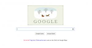 Google-Doodle zu Weihnachten 2013 - FROHES FEST =)