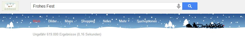 Google Doodle zu Weihnachten (24.12.2013)
