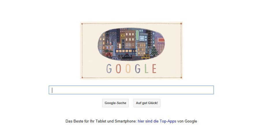 Google Doodle zum 1. Weihnachtsfeiertag dem 25.12.203