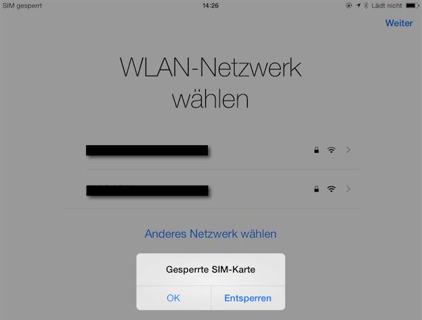 SIM Karte entsperren iPhone und iPad ohne Neustart des Gerätes ganz einfach gemacht!
