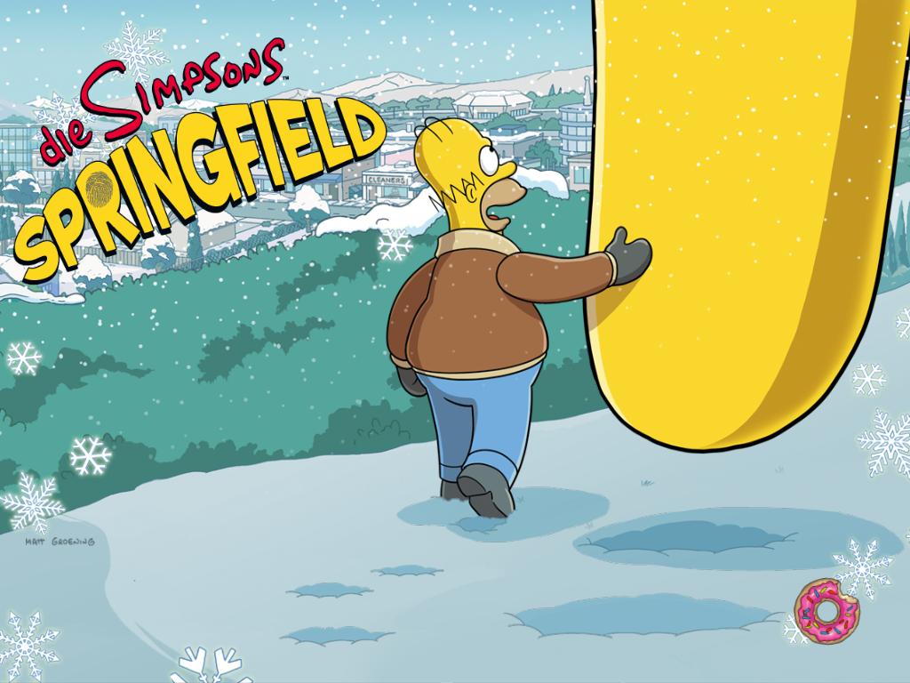 Simpsons iOS App Weihnachtsevent 2013 von EA