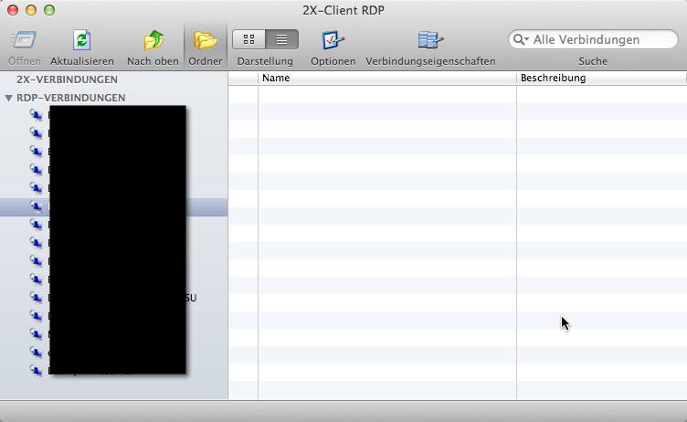So schauts aus: RDP für Mac OS X, Remotedesktop für Apples OS X kostenlos (auch für iOS im iPhone und im iPad)