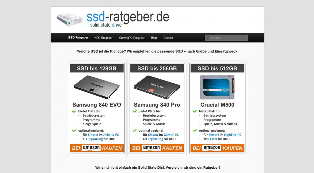 ssd-ratgeber.de - SSD Vergleiche und Ratgeber auf einer Seite!