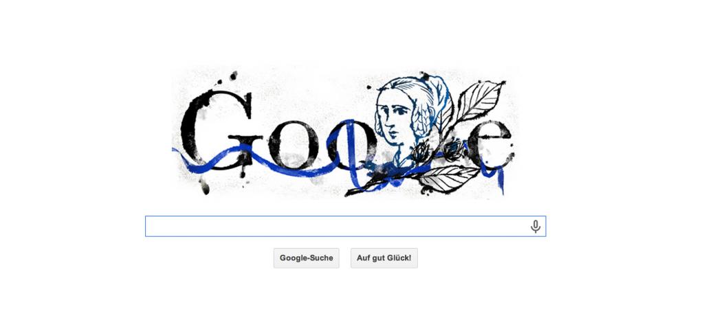 Annette von Droste-Hülshoff Google Doodle zum Geburtstag