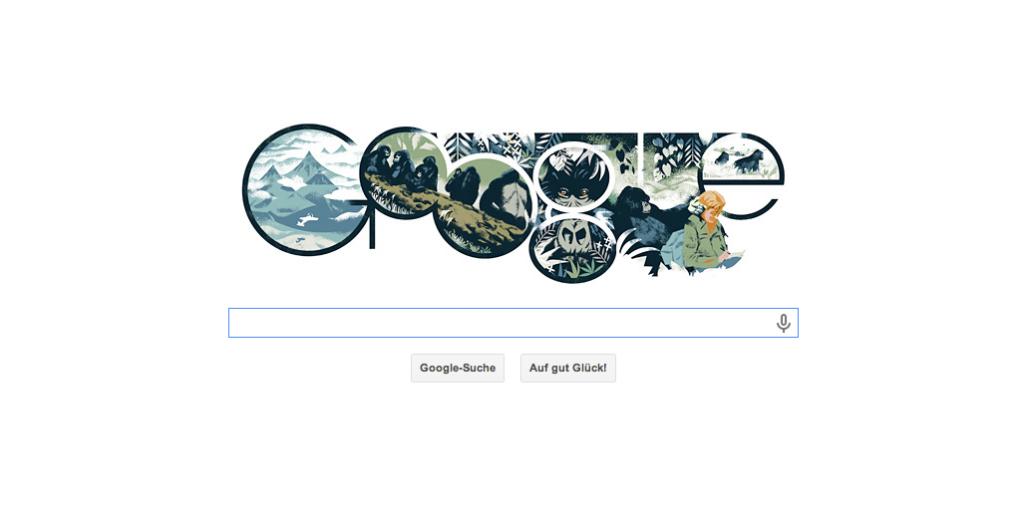 Google Doodle zum Geburtstag von Dian Fossey