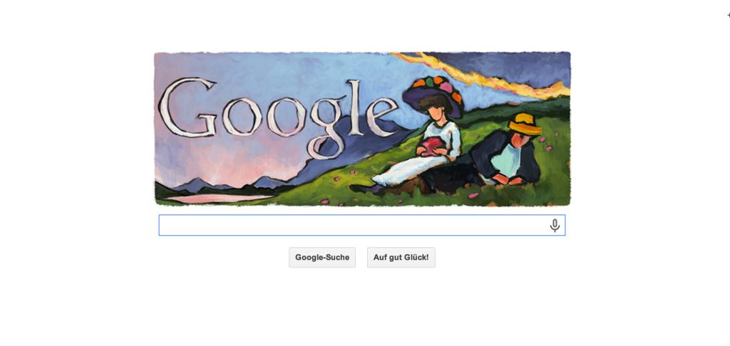 Google widmet Gabriele Münter einen Doodle zu ihrem 137. geburtstag am 19.02.2014