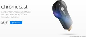 Googles Chromecast als Antwort auf Apples TV. Online Mediastreaming aus dem Hause Google für nur 35€!
