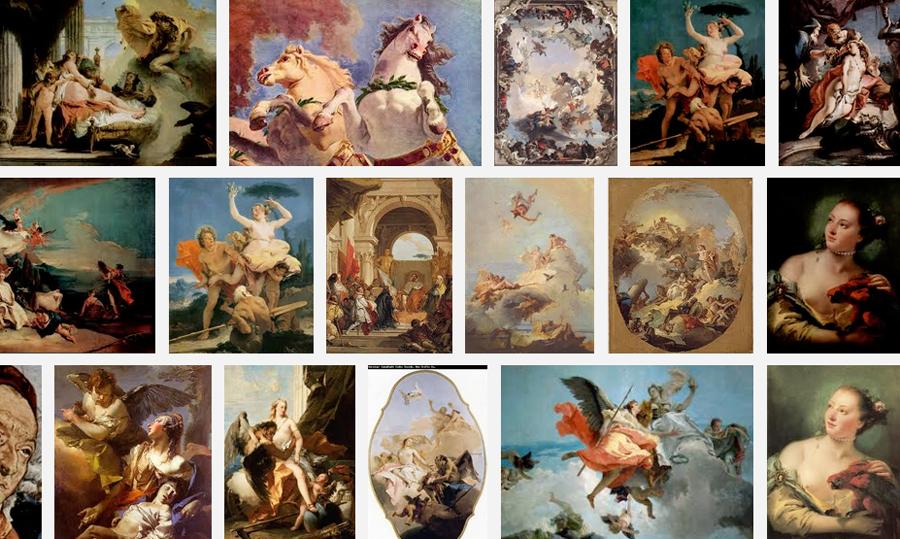 Google Doodle zu Giovanni Battista Tiepolos 318. Geburtstag - einer der bedeutendsten venezianischen Maler des 17. und 18. Jahrhunderts wird heute 318 Jahre alt.