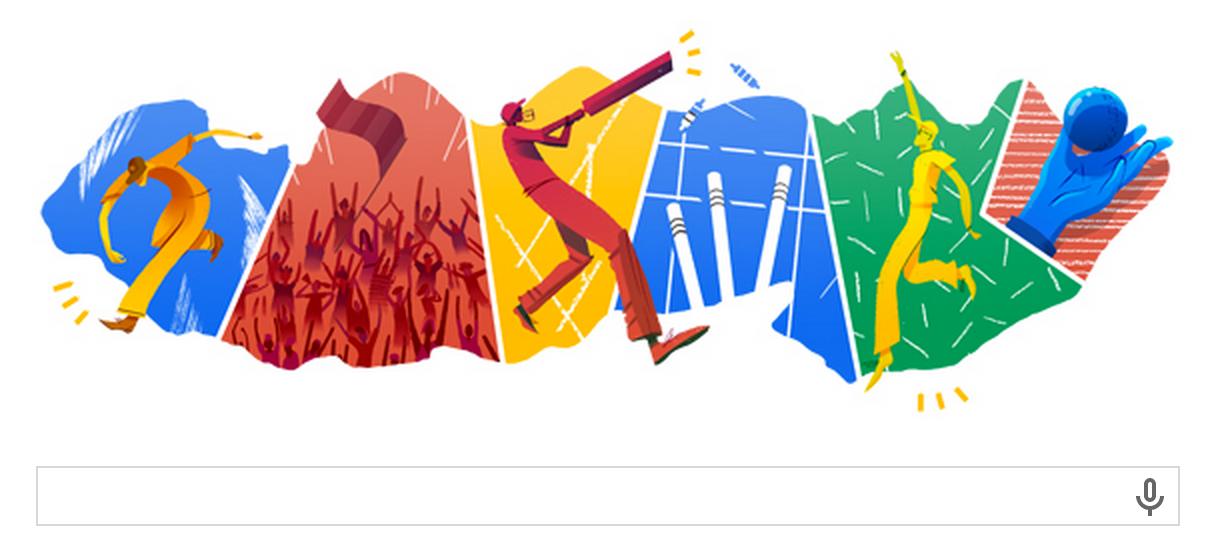 Google Doodle zum T20 Cricket Finale India gegen Sri Lanka am Freitag 04.04.2014