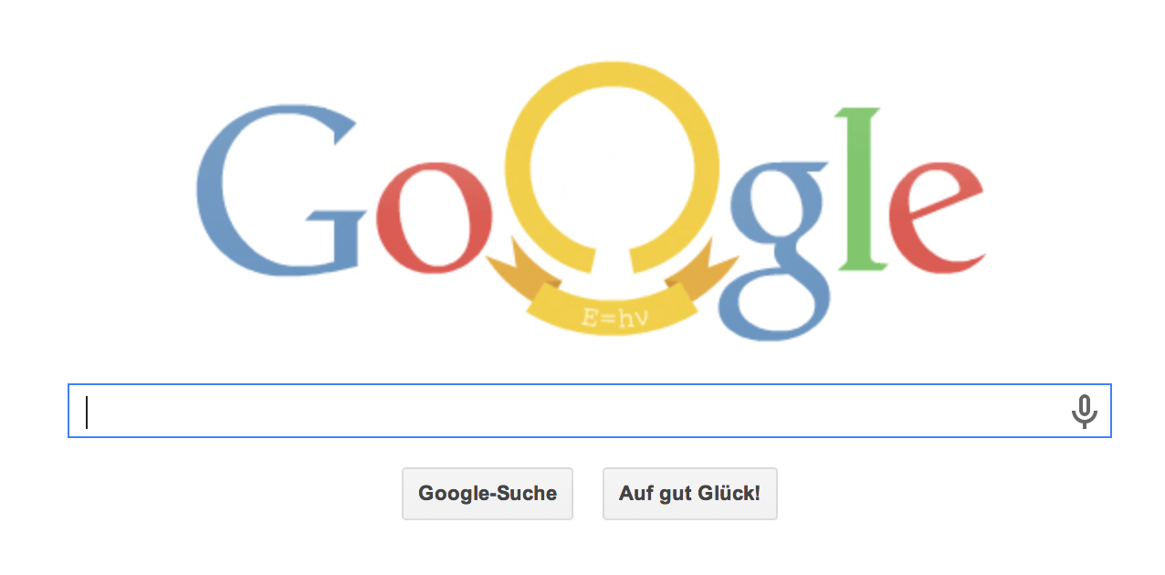 Max Planck Google Doodle am 23.04.2014