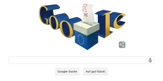 Google Doodle Europawahl 2014 (am 25.05.2014)