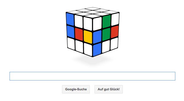 Google Doodle zu Rubiks Zauberwürfel dessen Geburtstag mittlerweile die Zahl 40 erreicht hat. Heute zum 19. Mai 2014