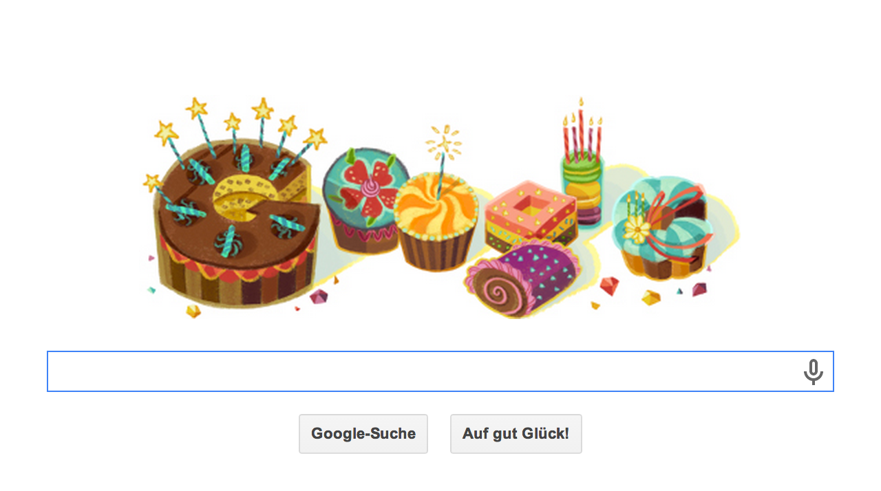 Google Doodle zum eigenen Geburtstag - Hier meines vom 17.05.2014. Super lieb von Google :D