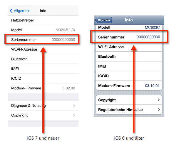 iPhone 5 Taste defekt - Hier siehst du wie man sich die Seriennummer über iOS auslesen kann