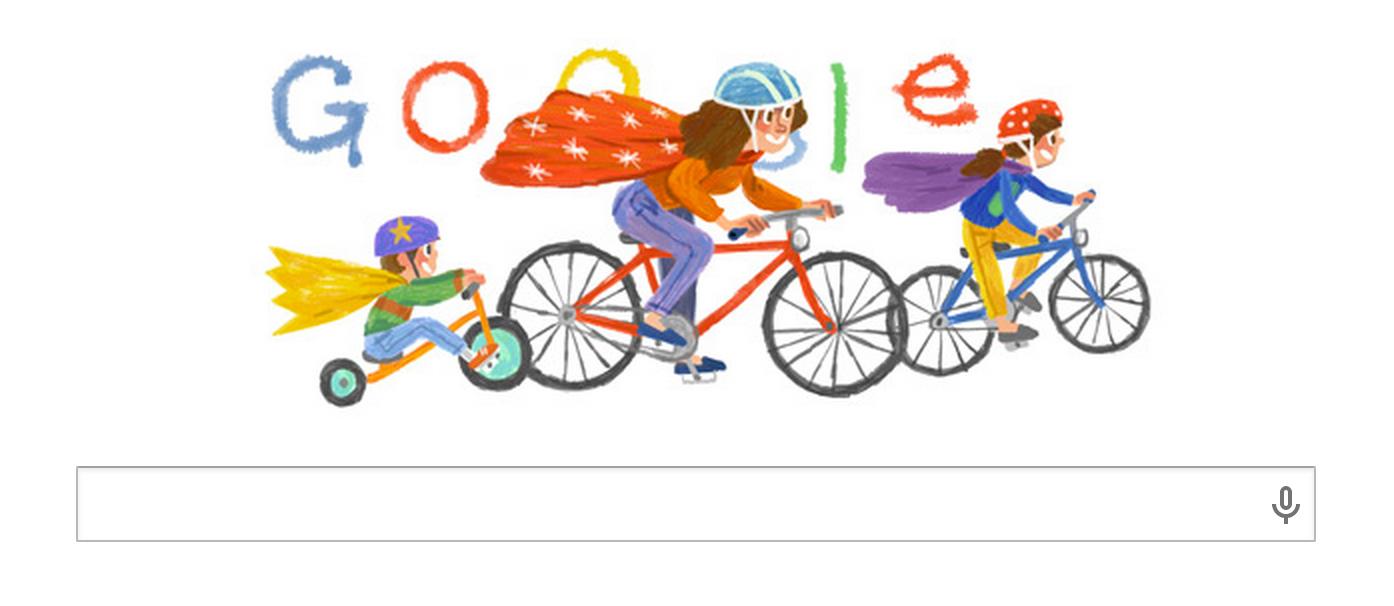 Wunderschönes Google Doodle zum Muttertag am 11.05.2014 - Die Damen habens auch verdient ;)
