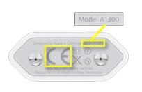 Austausch Apple USB-Ladegerät - Anhand der Modellnummer A1300 kann man feststellen, ob sein Apple USB-Netzteil für den Austausch erlaubt ist.