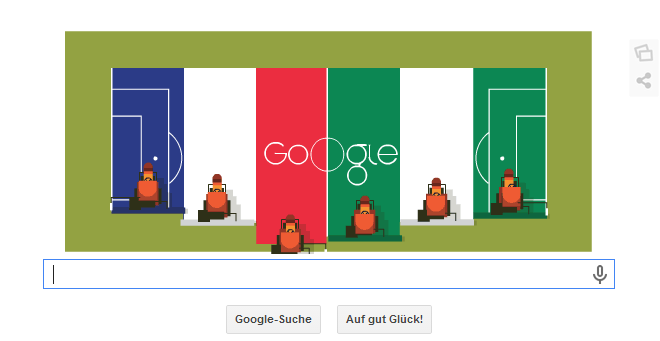 Brasilien Doodle vom 30.06.2014 Abends für das Spiel Frankreich gegen Nigeria