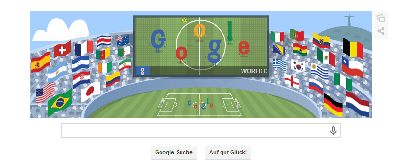 Google Doodle für das Finalspiel am 13.07.2014 um 22 Uhr zwischen Deutschland und Argentinien