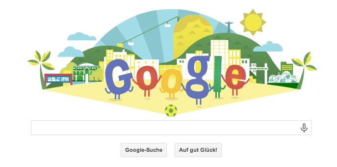 Google Doodle WM 2014 - ein schönes animiertes Doodle zum WM Start am 12.06.2014