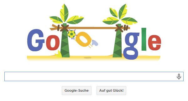 Google Doodle WM 2014 vom 21.06.2014 Abends zum Deutschlandspiel gegen Ghana