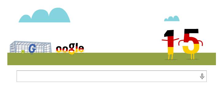 Google Doodle WM 2014 vom 22.06.2014 Morgens nach dem Deutschlandspiel gegen Ghana