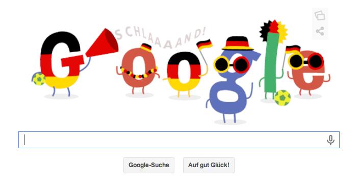 Google Doodle zum 1. WM Deutschlandspiel heute Abend gegen Portugal