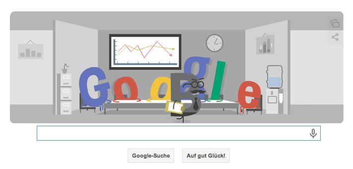 Google Doodle zur WM 2014 für das SPiel Niederlande gegen Chile vom 23.06.2014 um 18 Uhr deutscher Zeit Teil 1