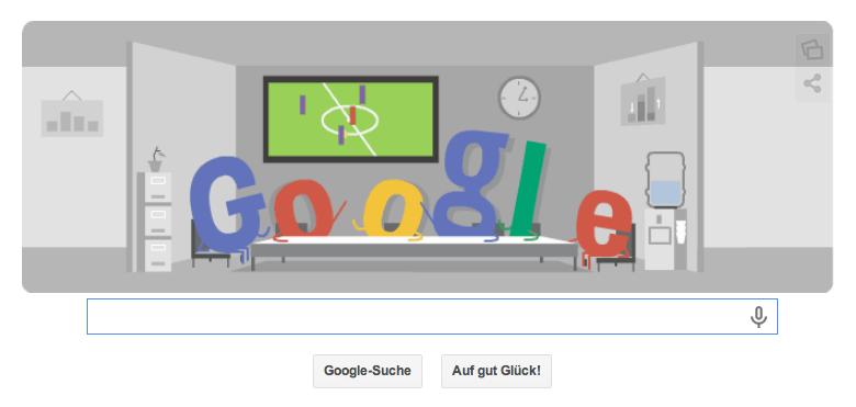 Google Doodle zur WM 2014 für das SPiel Niederlande gegen Chile vom 23.06.2014 um 18 Uhr deutscher Zeit Teil 2