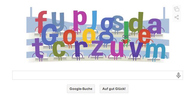 Google Doodle zur WM 2014 gezeigt am Dienstag, dem 17.06.2014