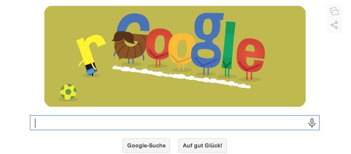 Google Doodle zur WM 2014 in Brasilien vom 08.07.2014 Morgens Teil 1