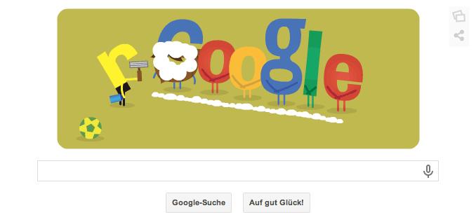 Google Doodle zur WM 2014 in Brasilien vom 08.07.2014 Morgens Teil 2