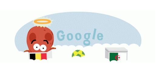 Google Doodle zur WM 2014 Sieg Belgien gegen Algerien