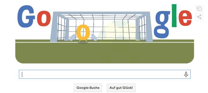 Google Doodle zur WM 2014 vom 09.07.2014 Abends. Heute findet das zweite Halbfinalspiel statt. Holland gegen Argentinien um 22 Uhr Teil 1