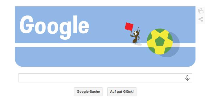 Google Doodle zur WM 2014 vom 09.07.2014 Abends. Heute findet das zweite Halbfinalspiel statt. Holland gegen Argentinien um 22 Uhr Teil 2