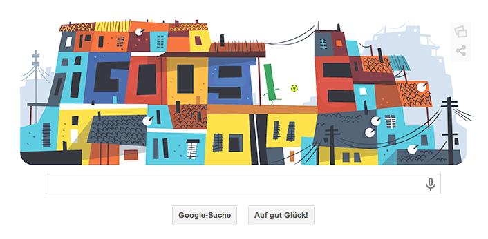 Google Doodle zur WM 2014 vom 18.06.2014