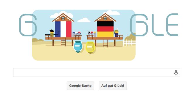 WM 2014 Doodle vom 04.07. für das Spiel Deutschland gegen Frankreich