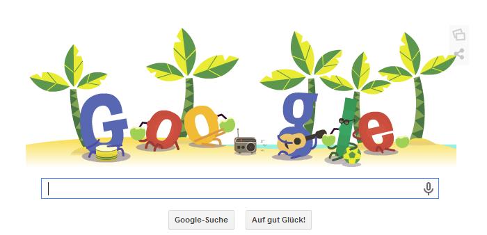 WM 2014 - Google verändert seine Doodles. Dieses ist vom 15.06.2014